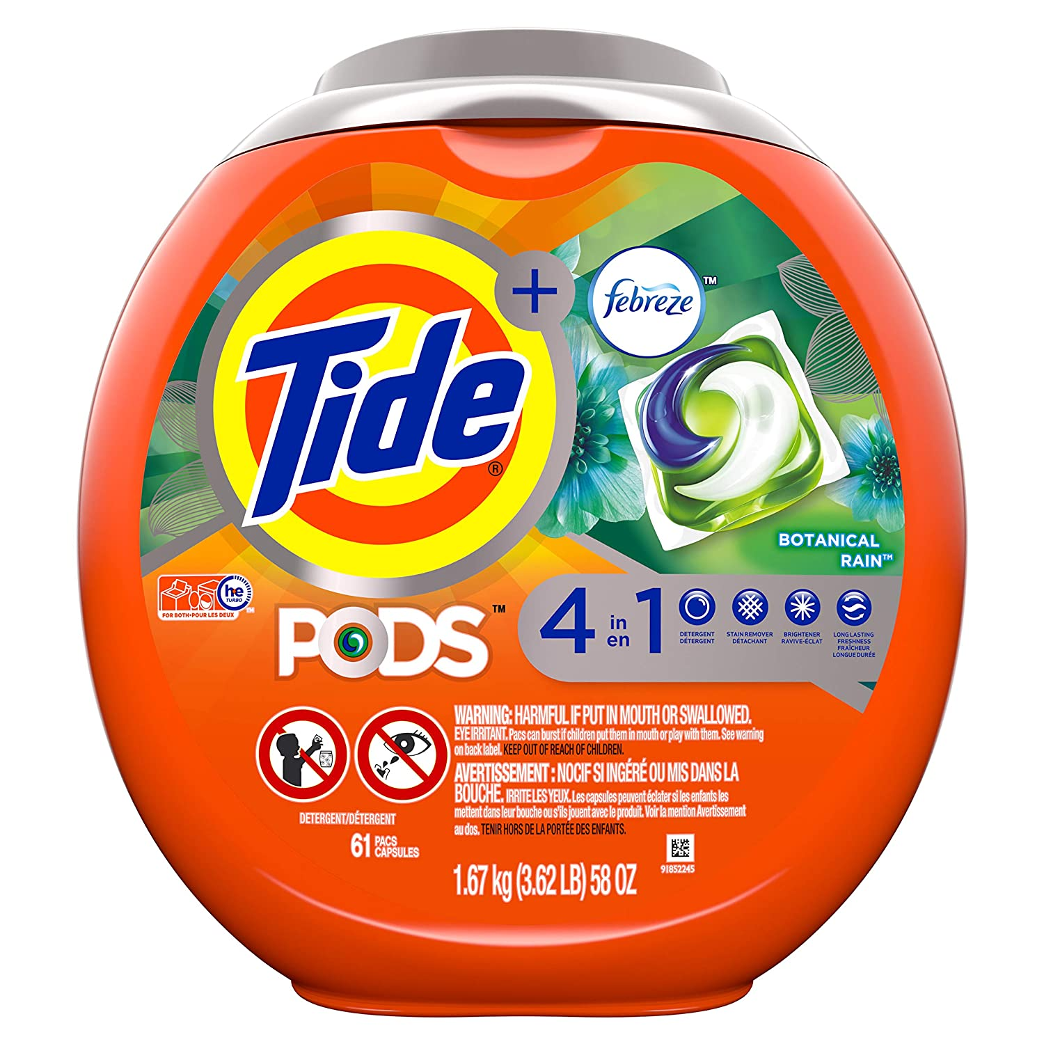 Amazon.com: Detergente de lavandería turbo tide, pods ...