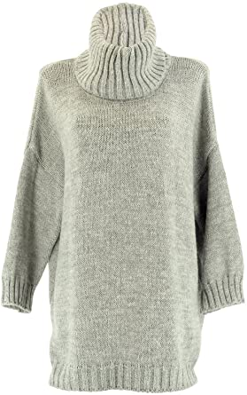 306e5c936bf Charleselie94® Pull Long Laine Mohair Grande Taille Gris Clair Loose Gris