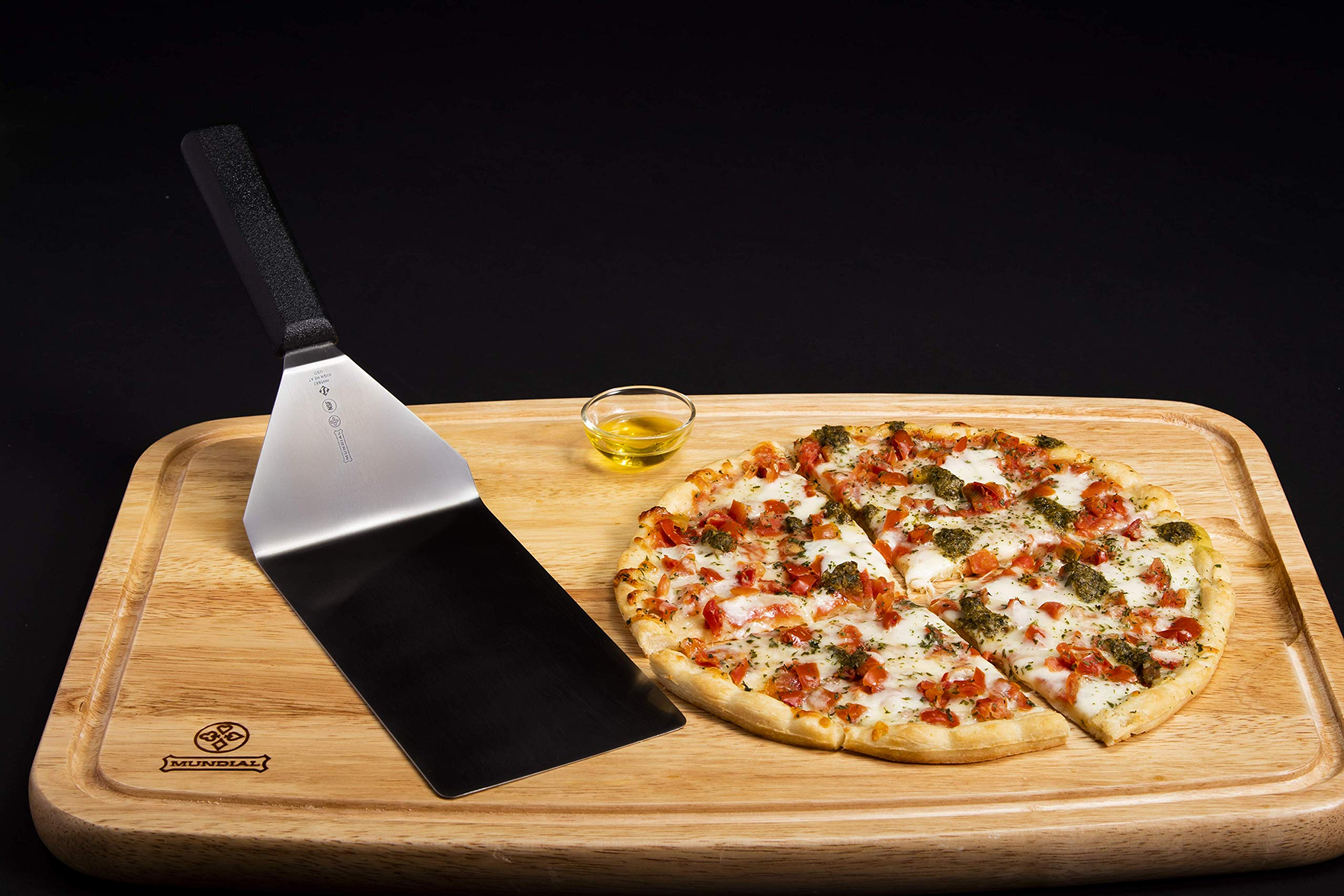Mundial 5682HH High Heat Resistant Turner/Spatula 8-inch by 4-inch with Black Handle