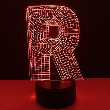 Amazon.com: Lámpara LED de noche con iluminación 3D, con ...