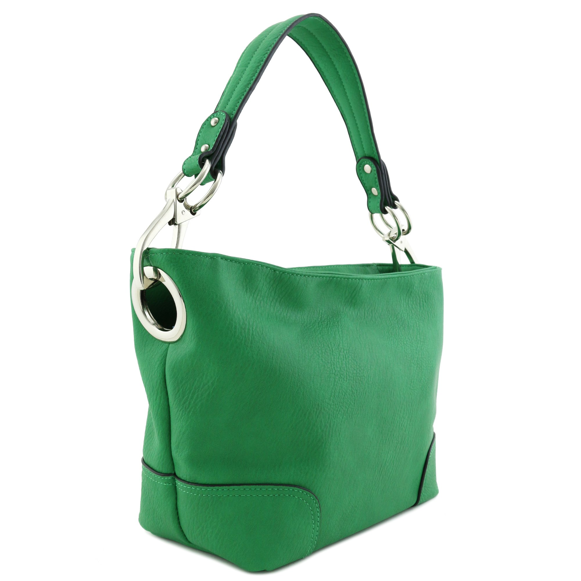 Hobo Shoulder Bag with Snap Hook Hardware Small (Kelly Green)