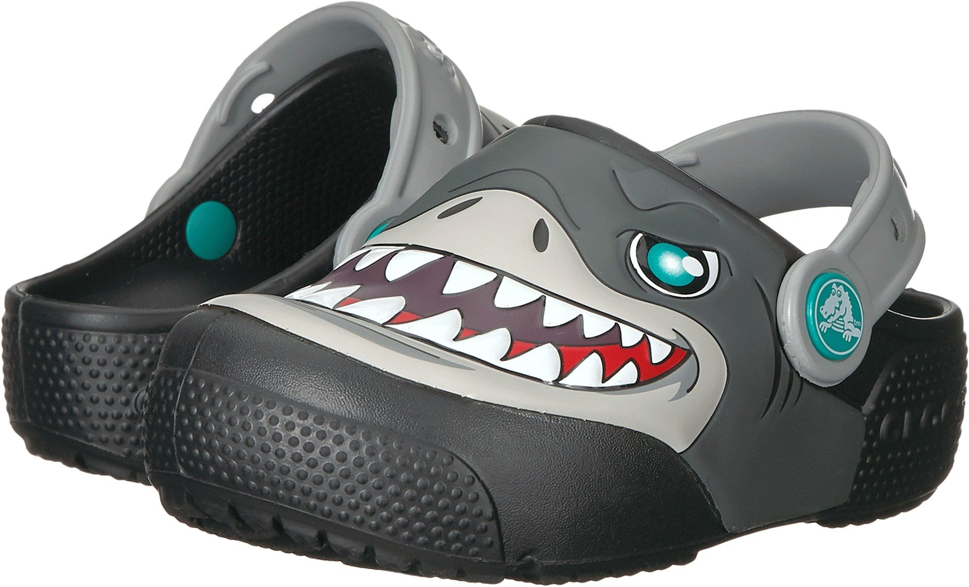 Crocs Unisex Fun Lab Lights Clog K, Black, 1 M US Little Kid