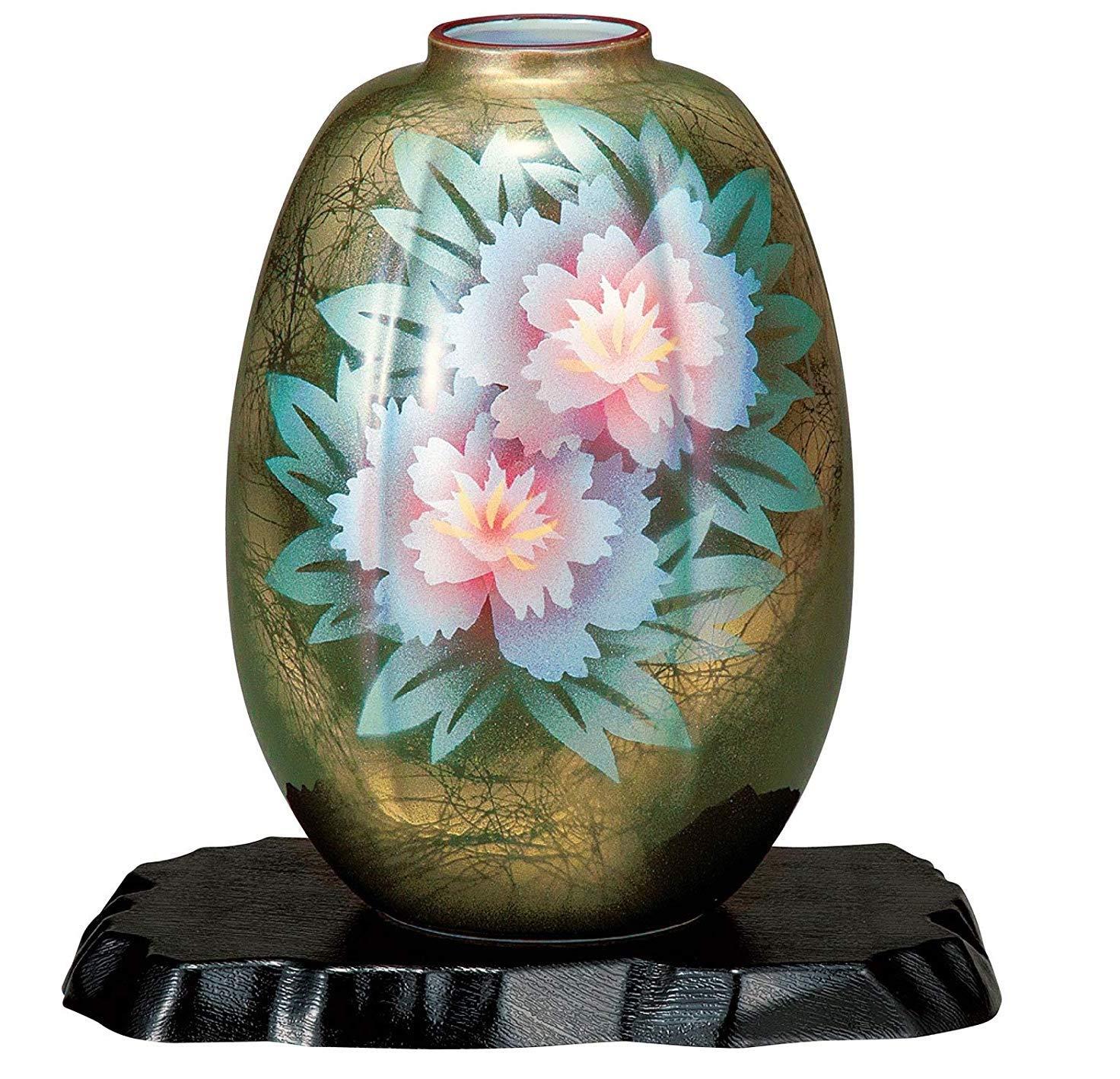 九谷焼 8号花瓶 牡丹 B07SSFKC3S