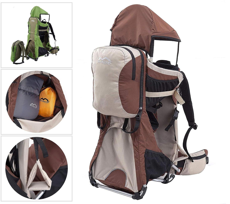 MONTIS Ranger Pro - Mochila portabebés - hasta 25 kg (Arena): Amazon.es: Deportes y aire libre