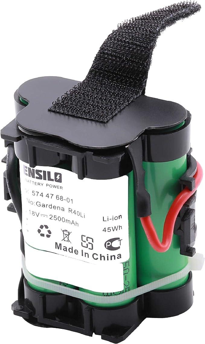 INTENSILO Batería Compatible con Husqvarna Automower 105, 305, 308, 308X, 308 X Robots cortacésped (Li-Ion, 2500mAh, 18V) Batería de Repuesto