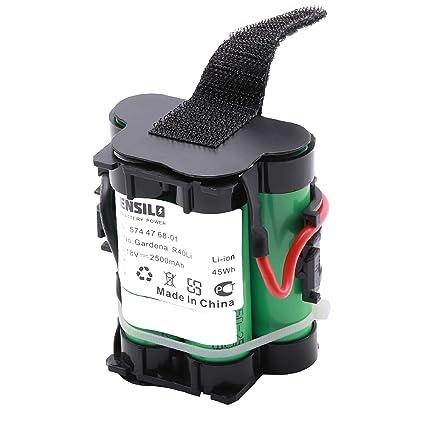 INTENSILO Batería Li-Ion 2500mAh (18V) para Robot cortacésped Husqvarna Automower 305,