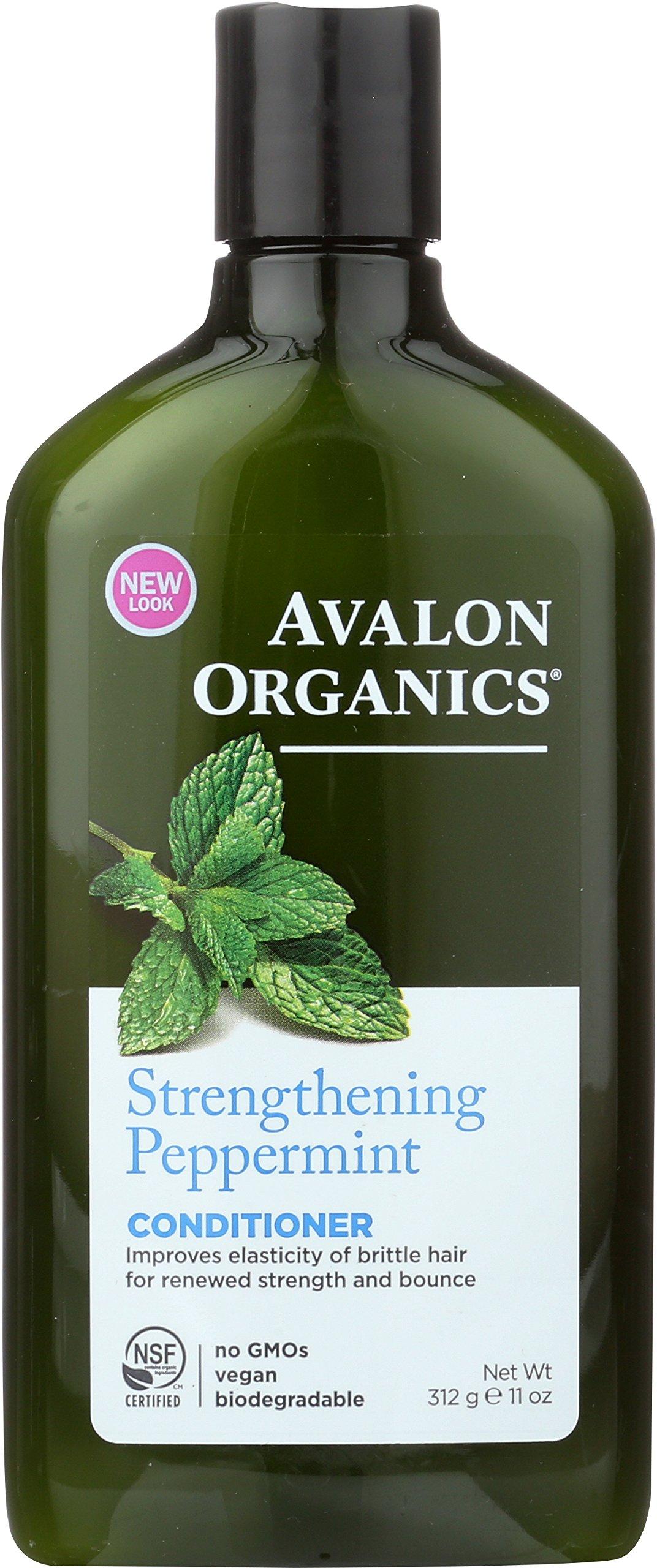Avalon Organics Strengthening Peppermint Conditioner, 11 oz.