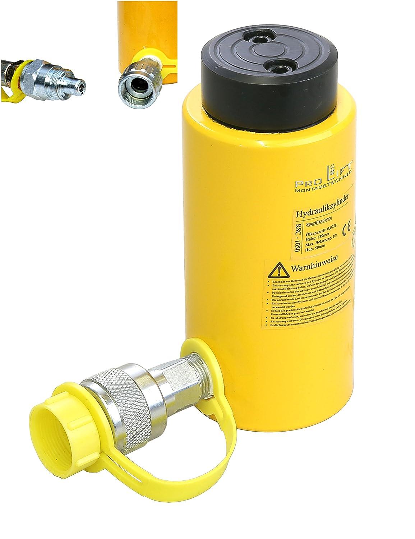 Pro-Lift-Montagetechnik 10t Hydraulikzylinder, Hub 50mm, min. Lä nge 140mm, RSC, 00817