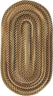 product image for Capel Rugs Bangor Amber 7' x 9' Oval Braided Rug
