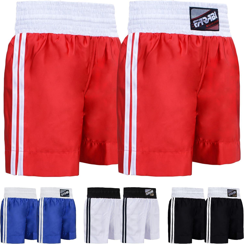 Farabi Pro Boxing Shorts for Boxing Training Punching, Sparring Fitness Gym Kickboxing Equipment Trunks: Clothing