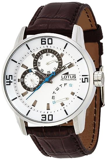 c39006f466ef Lotus 15798 1 - Reloj analógico de Cuarzo para Hombre con Correa de Piel