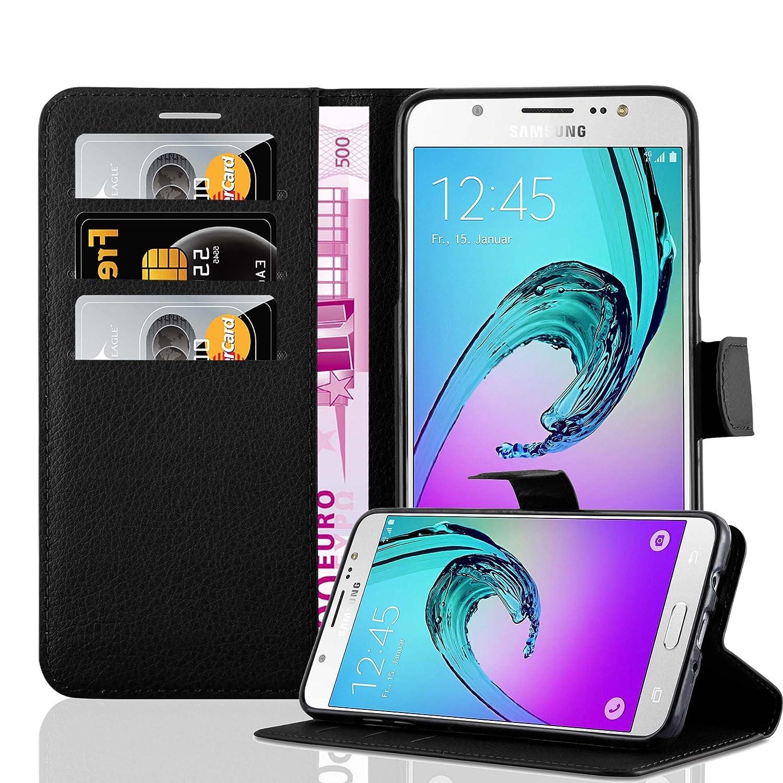 Cadorabo Funda Libro para Samsung Galaxy J7 2016 en Negro Fantasma ...