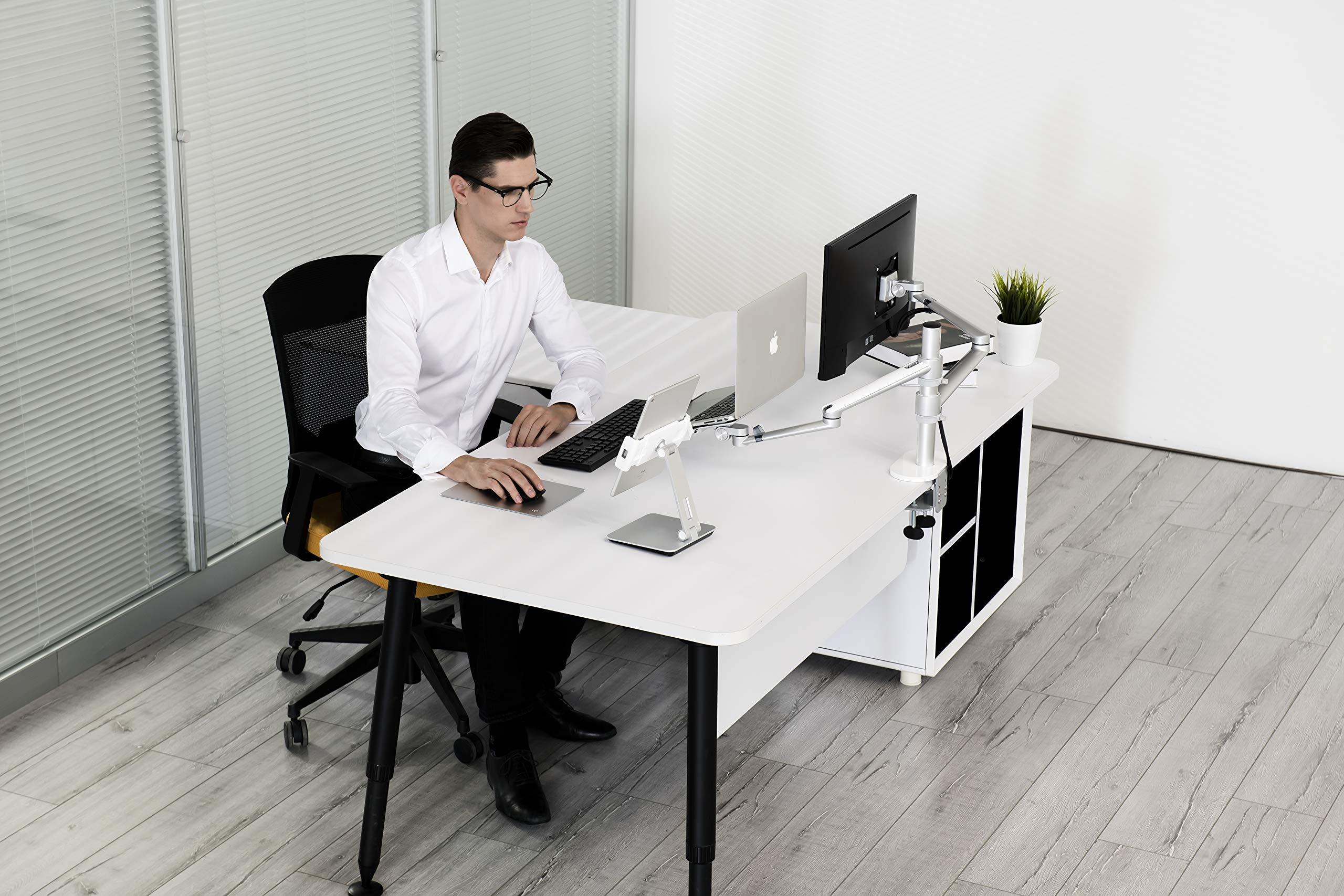 MagicHold 3 in 1 360º Rotating office/desk stand for Laptop(10-15.6'') and any size tablet(7-13'')/IPAD Pro 12.9''/MS Surface Pro by MagicHold® (Image #4)