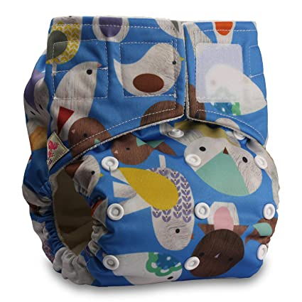 Reusable Pocket Cloth Nappy Pattern 13 Set of 1 Fastener: Hook-Loop Littles /& Bloomz with 1 Bamboo Insert