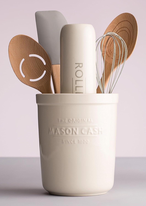 Mason Cash Pot /à ustensiles de Cuisine innovante et Dessous de Plat en C/ÉRAMIQUE Off//Blanc 16/x 16/x 20/cm