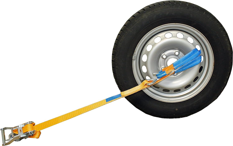 Shz 4x Spanngurt 35mm Auto Transport 3t Lc1500 Dan Radsicherungsgurt Zurrgurt Autotransport Reifengurt 36 Made In Germany Auto