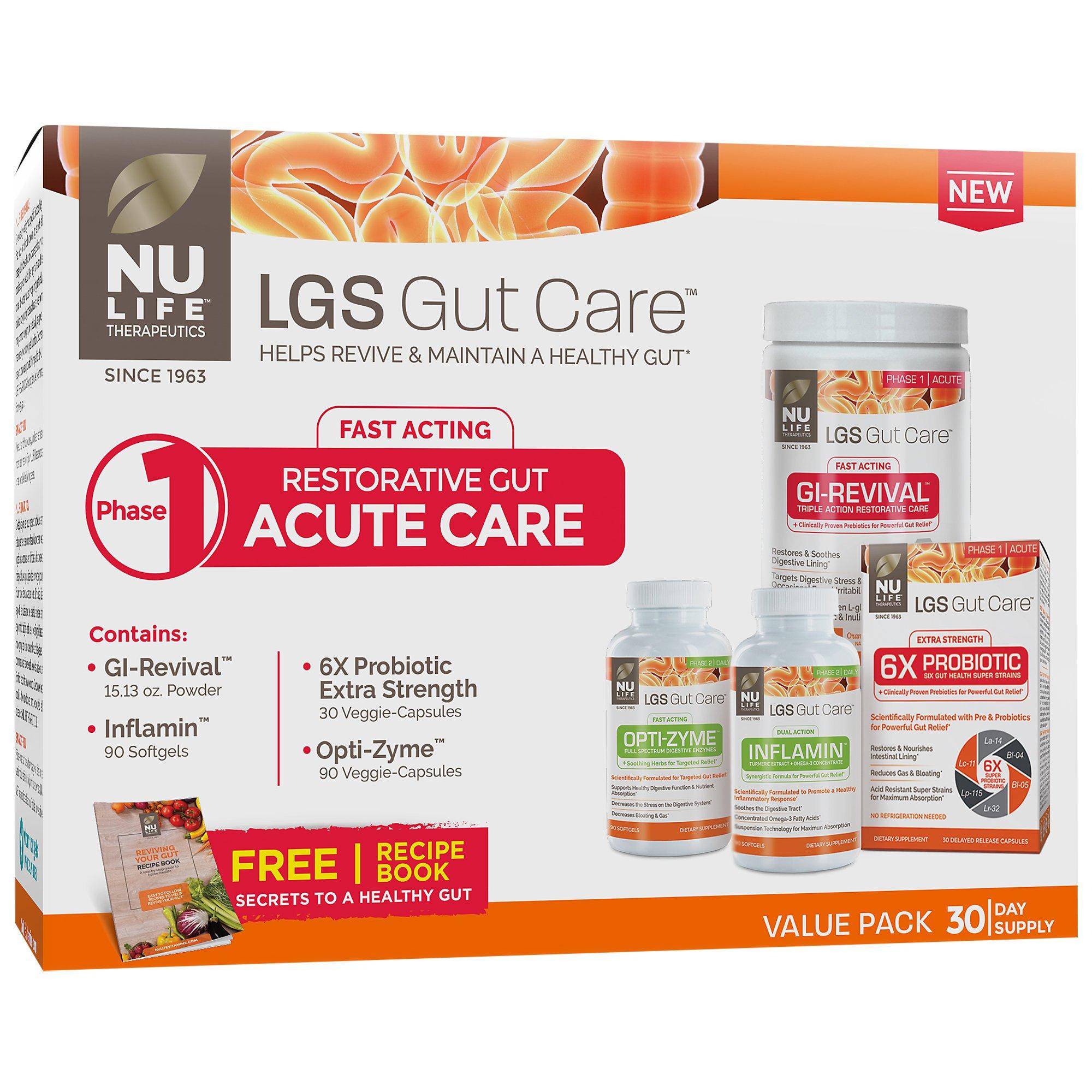Nu Life LGS Gut Care Acute Care Kit (1 Kit)