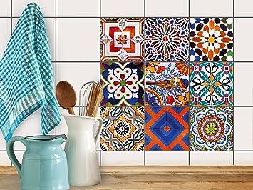piastrelle decorative per cucina | stickers design adesivo decori ... - Mattonelle Adesive Per Cucina