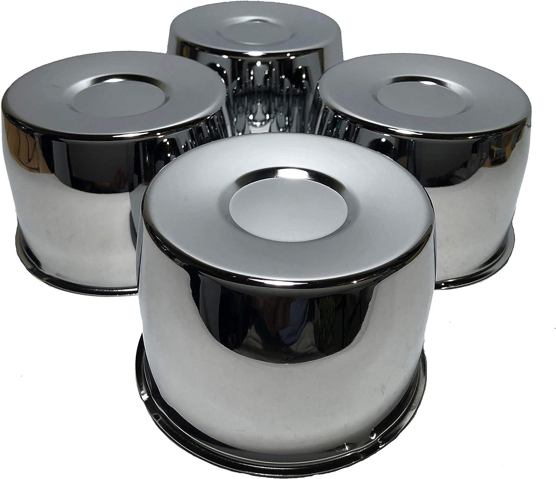 Chrome Push Through Short 3.5 Tall Center Cap For 5.15 Center Bore Wheel