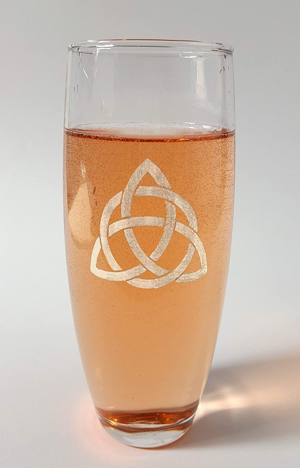 Free Personalized Engraving Trinity Knot Stemless Champagne Flutes Set of Six