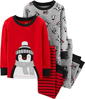 182e6a2c2 Amazon.com  Carter s Baby Boys 4 Pc Penguin Winter Snug fit Cotton ...