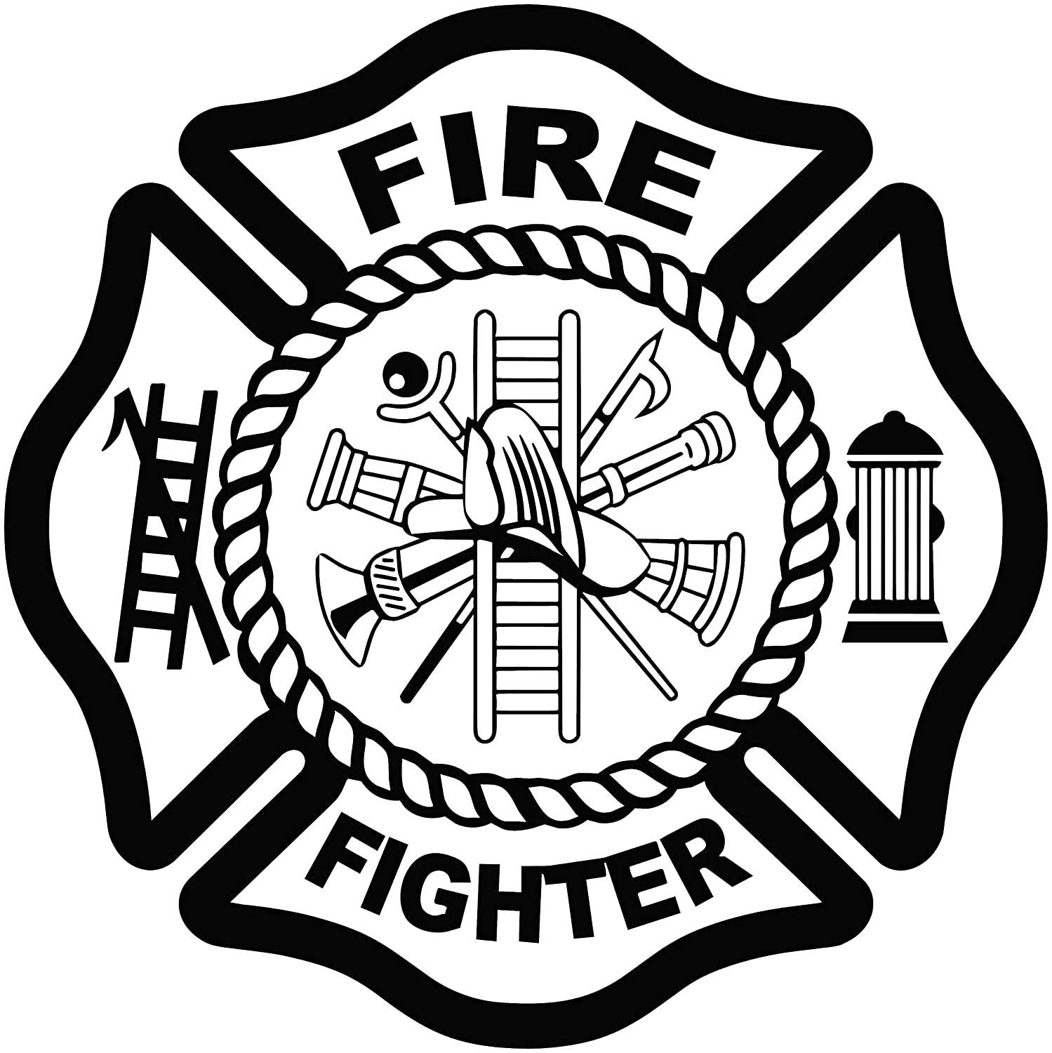 FIRE FIGHTER DECAL FOR CAR AND TRUCKS