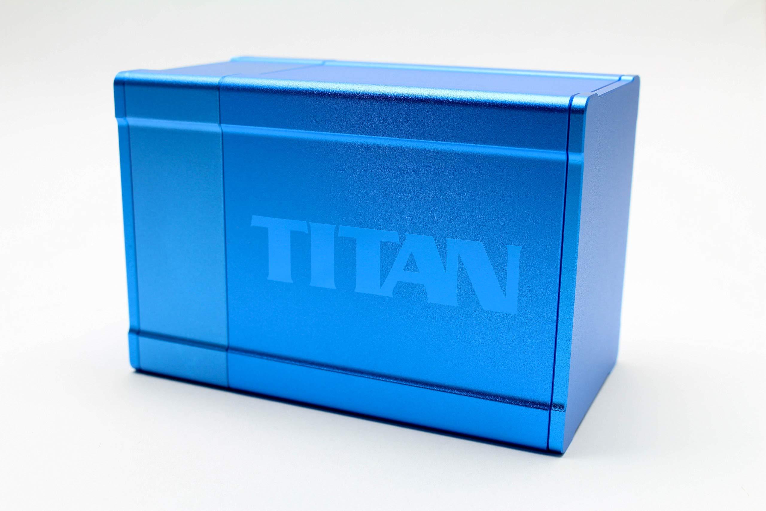 Blue Satin Titan Solid Box Gods Premium High Strength Deck Box Case Protector