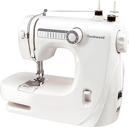 TECHWOOD TMAC-608 - Máquina de Coser, Color Blanco: Amazon.es: Hogar
