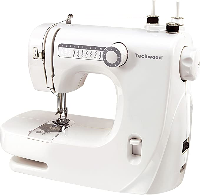 TECHWOOD TMAC-608 - Máquina de Coser, Color Blanco: Amazon.es: Hogar