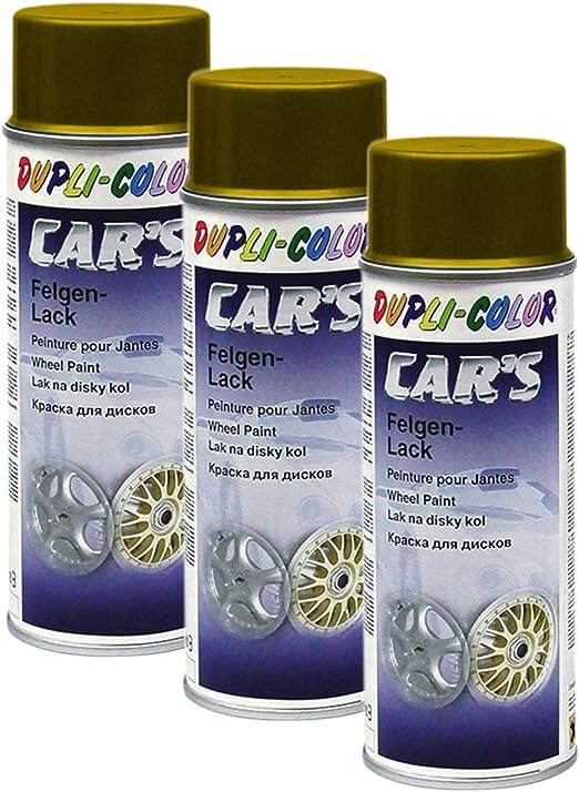 3x Dupli Color Cars Felgengold Felge Gold Glanz Schutzlack Stahl Leichtmetall 40 Auto