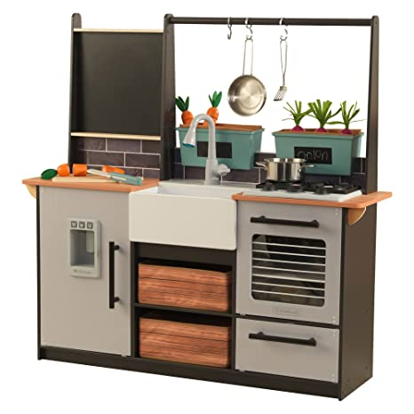 Amazon Com Farm To Table Play Kitchen With Ez Kraft Assembly Toys