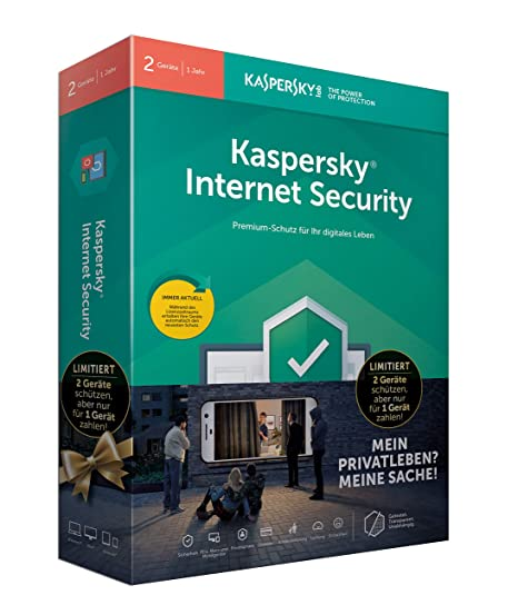 Kaspersky Internet Security 2019 I Standard I 2 Geräte I 1 Jahr I Limited Edition I Windows/Mac/Android I Download