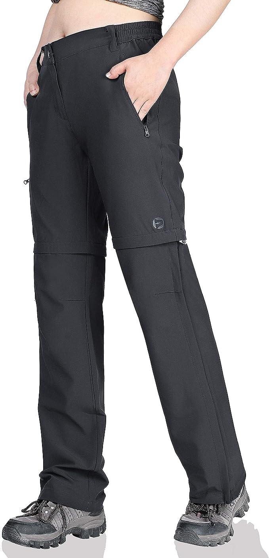mosingle Womens Hiking Trousers Stretch Convertible Quick Dry Lightweight UPF 40 Fishing Safari Travel Cargo Pants