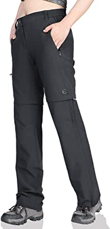 Outdoor Ventures Women's Quick Dry Zip-Off Hiking Travel Work Pants Breathable Lightweight Stretch Cargo Shorts with Pockets