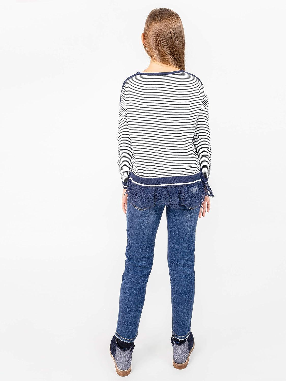 GULLIVER Pullover M/ädchen Kinder Pullover Blau Strickpulli Gestreift 8-13 Jahre 134-164 cm