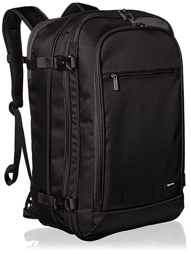 AmazonBasics Carry-On Travel Backpack, Black best travel backpack
