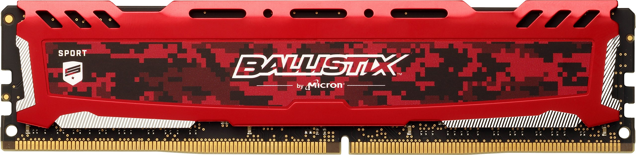 Ballistix Sport LT 8GB Single DDR4 2666 MT/s (PC4-21300) DR x8 DIMM 288-Pin Memory - BLS8G4D26BFSE (Red)