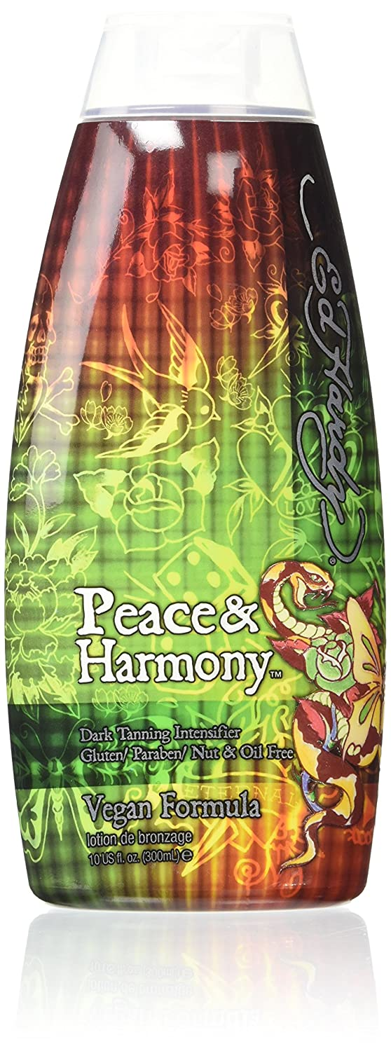 Ed Hardy Peace & Harmony Tanning Intensifier Bronzing Moisturizer Lotion