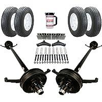 85 Hubface - 70 Spring Center Add Spare 60 Frame 5.2k Heavy Duty Tandem Axle TK Trailer kit 15 225//75 R15 10 ply Radial TWA 10,400 lb Capacity