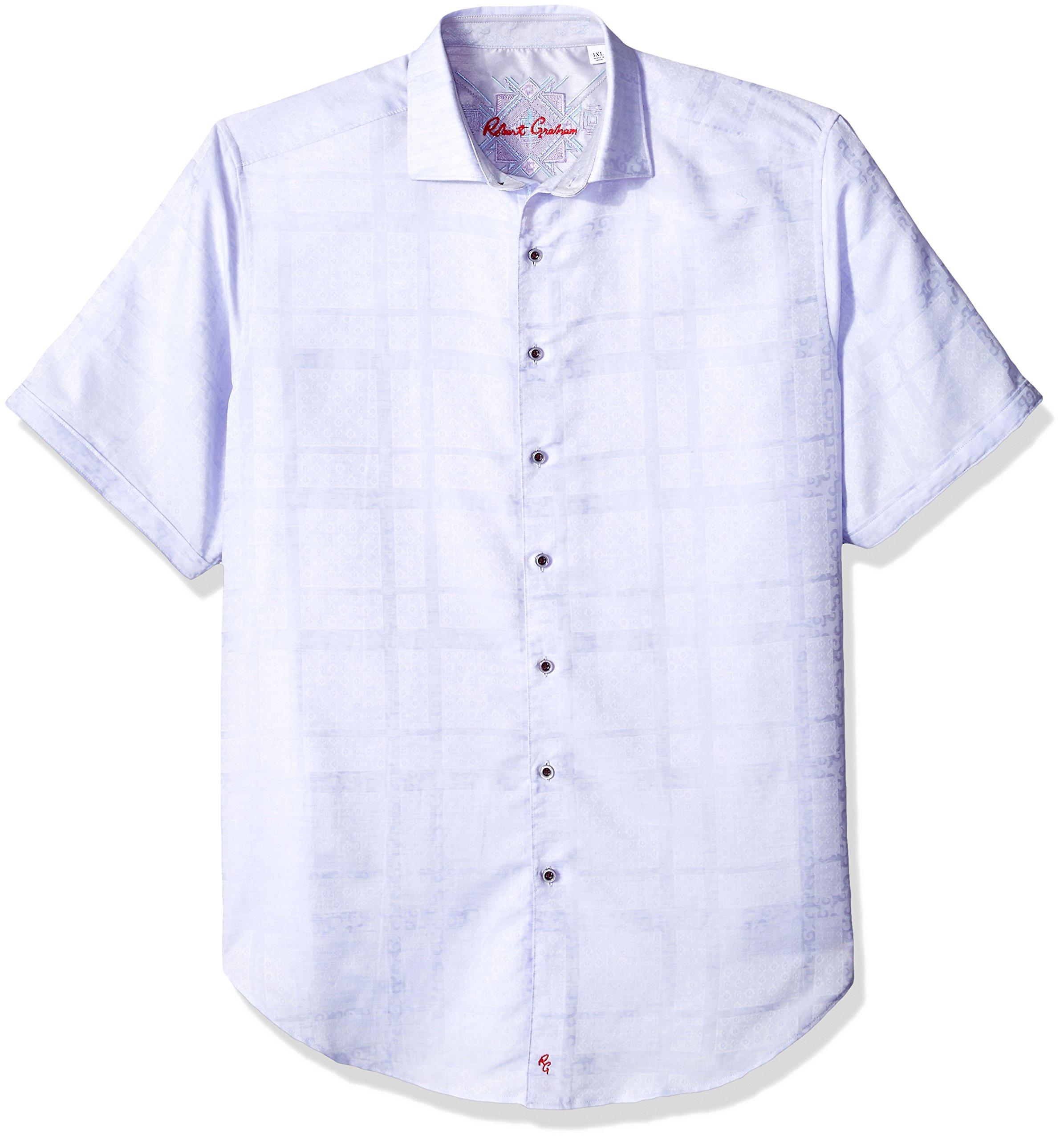 Robert Graham Men's Tall Cotton Linen blend Long Sleeve Woven Sport Shirt