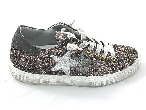 2 STAR Scarpa Sneaker Donna Bronzo Glitterato 2S1655S  Amazon.it  Scarpe e  borse 2241a9eb097