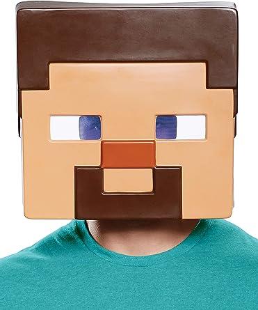 Amazon Com Disguise Kids Minecraft Steve Vacuform Mask Standard Toys Games