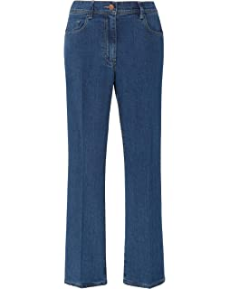 Womens Bootcut Jeans Stretch Denim Back-Concealed Elasticated Waist Simply Be