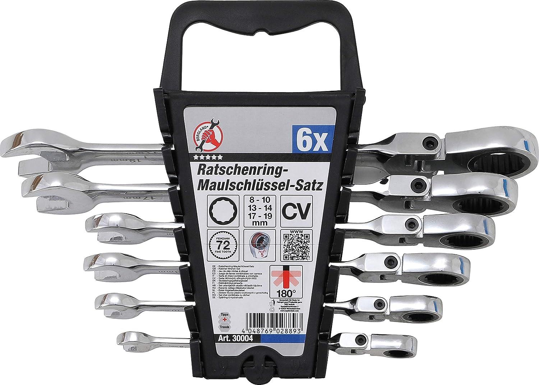 t/êtes flexibles Kraftmann 30004 6/pi/èces 8-19/mm Jeu de cl/és mixtes /à cliquet