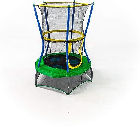 Skywalker Trampolines Mini Trampoline with Enclosure Net, 40 - Inch, Green
