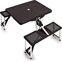 ONIVA - a Picnic Time Brand Portable Folding Picnic Table with Seating for 4, Black