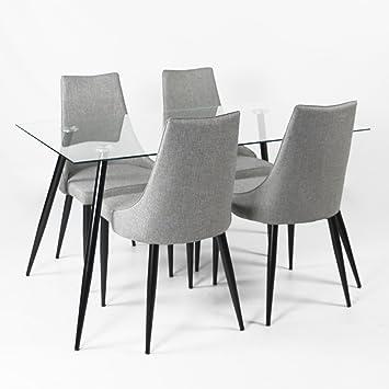 Charles Jacobs Glas Lounge/Küche Esstisch-Set mit einer Vielzahl von ...