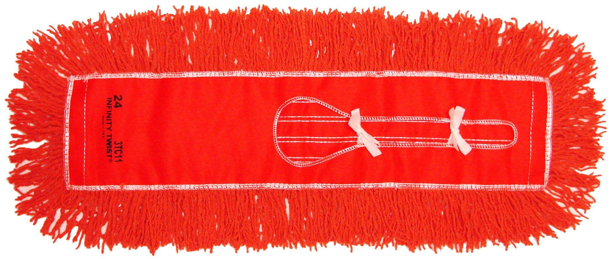 Golden Star AJU24CITO Jumbo Infinity Twist Dust Mop Head, 5'' x 24'', Orange (Pack of 12)