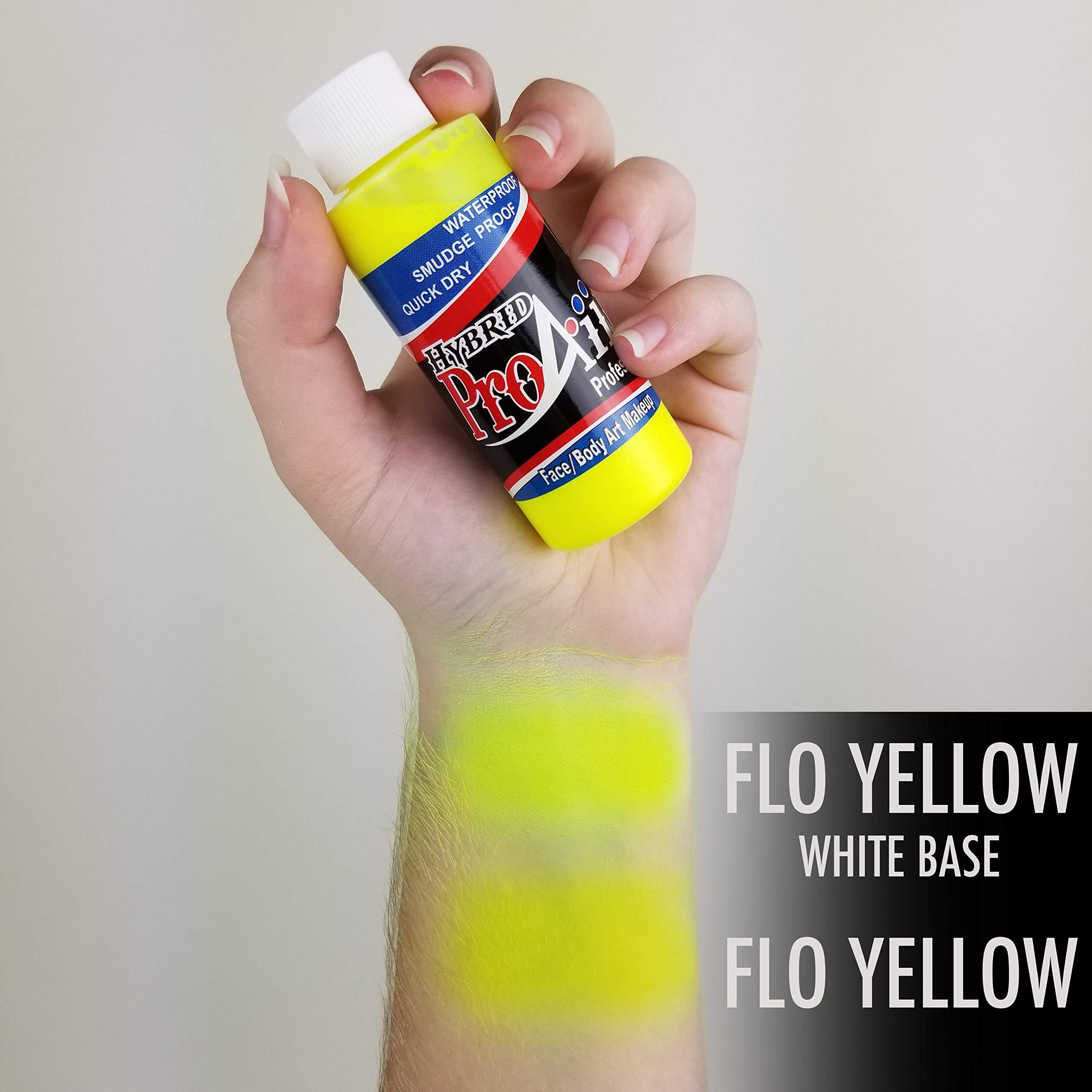 Face Painting Makeup - ProAiir Waterproof Makeup - Set of 6 UV/Fluorescents - 1 oz (30ml) by ShowOffs Body Art
