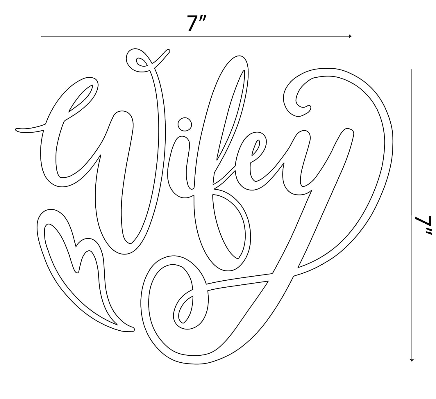 Wifey Car Sticker Married Window Decal Vinyl Gift Truck Laptop